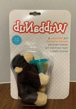 BRAND NEW IN PACKAGE WUBBANUB BROWN MONKEY PLUSH PACIFIER 0-