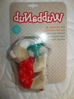 Brand NEW Sealed Wubbanub Infant Pacifier Red Pajama Bear 0-