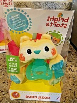 BRIGHT STARTS BABY  COZY COOS PACIFIER TIGER HTF !! NEW  IN