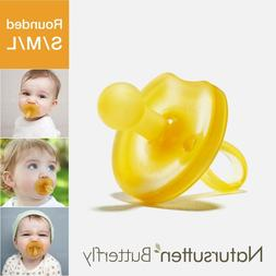 Natursutten Butterfly Rounded Natural Pacifier — Rubber La