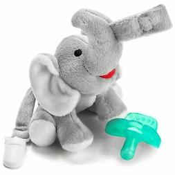 Bryco Baby Elephant Pacifier Holder - Includes Detachable Pa