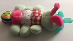 Caterpillar-Attached Silicone Baby Pacifier, Nuk, Nub, Stuff