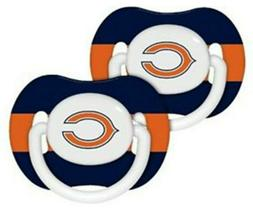 Chicago Bears Baby Fanatic NFL Pacifier Binky 2-Pack