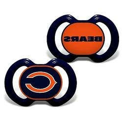 Chicago Bears Pacifiers 2 Pack Set Infant Baby Fanatic BPA F
