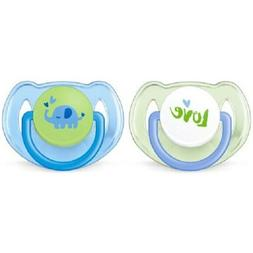 PHILIPS AVENT CLASSIC PACIFIERS, 6-18M - 2PK *CHECK FOR COLO