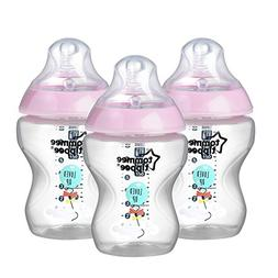 Tommee Tippee Closer to Nature Baby Bottle Decorated Pink, A