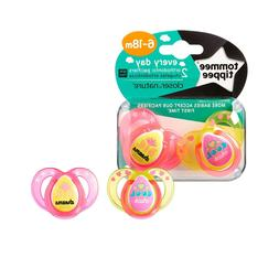 Tommee Tippee Closer To Nature Everyday Pacifier, Pink, 6-18