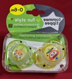 Tommee Tippee Closer to Nature Fun Pacifier, 0-6 Months, 2 C