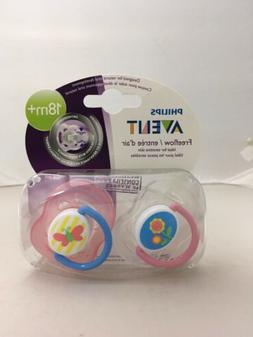 Set of 2 Philips AVENT Clouds Pacifier 18+ Months Free Flow,