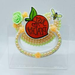 Custom Adult Pacifier, JUST PEACHY, DDLG AGRE