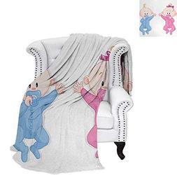 Custom Design Cozy Flannel Blanket Babies Lie and Keep The P