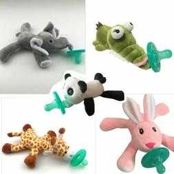 Cute Baby Pacifier Plush Toy Newborn Kids Boys & Girls Carto