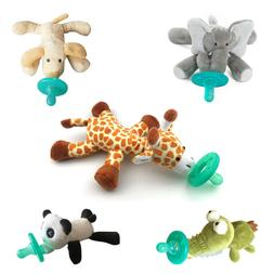 Cute Stuffed Animal Attached Silicone Material Baby Pacifier