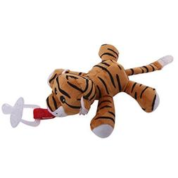 Wivily Baby Cute Tiger Pacifier Holder - Stuffed Animal Soft