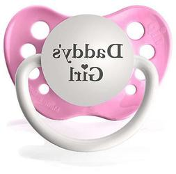 Daddys Girl Pacifier by Ulubulu - Pink - Girls Binky - 6-18