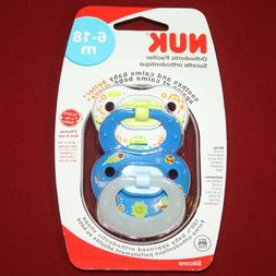 NUK Day & Night Glow Pacifier  2pk Silicone, Boy Designs