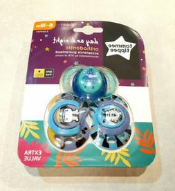 Tommee Tippee Day & Night Pacifiers, with Glow-In-The-Dark,