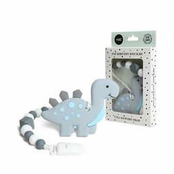 AmazingM Dinosaur Teething Pain Relief Toy with Pacifier Cli