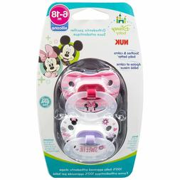 NUK Disney Baby Puller Pacifier in Mickey, Minnie Colors and