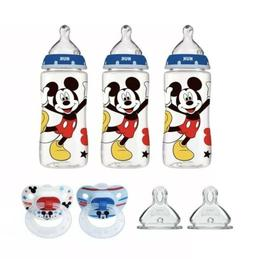 NUK Disney Baby Bottle & Pacifier Newborn Set, Mickey Mouse