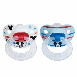 disney mickey mouse orthodontic pacifier 2 pack