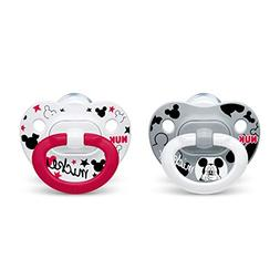 NUK 2-Piece Disney Mickey Mouse Orthodontic Pacifiers, 0-6 M