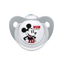 NUK Disney Mickey Pacifier 0-6 M Silicone Soother Boy Gray 8