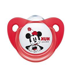NUK Disney Mickey Baby Pacifier 0-6 Months Silicone Girl Red