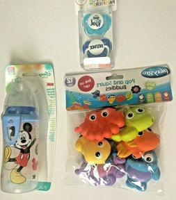 Disney Micky Mouse NUK Cup 10oz, 2 Lulubulu pacifiers Tub to