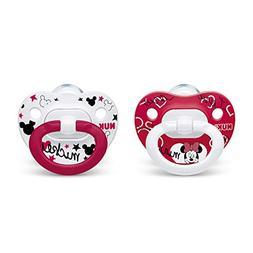 NUK 2-Piece Disney Minnie Mouse Orthodontic Pacifiers, 6-18