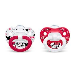 NUK 2-Piece Disney Minnie Mouse Orthodontic Pacifiers, 0-6 M