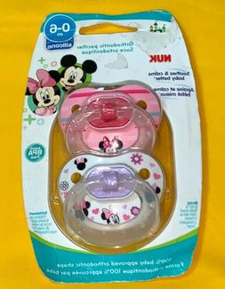 NUK Disney Baby Puller Pacifier, 0-6 Months, Girl/Minnie Mou