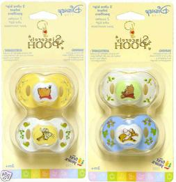 Disney Baby Sincerely Pooh Ultra Kip Newborn Pacifiers, 0+ M