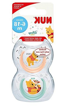 NUK Disney Winnie The Pooh Silicone Soother, Orthodontic Sha