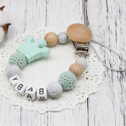 DIY Silicone Personalised Name Baby <font><b>Pacifier</b></f