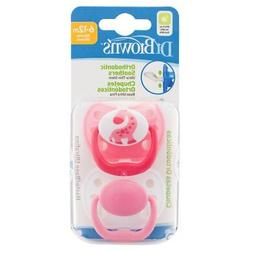 Dr Brown's Stage 2 Dummy 6 to 18 Months Twin Pack Soother