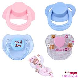 Theshy Little Cute Toys 4PC New Dummy Pacifier for Reborn Ba