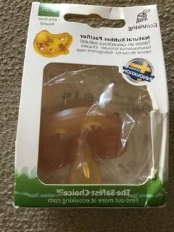 ECOVIKING NATURAL  Rubber Pacifier. 0+month SEALED