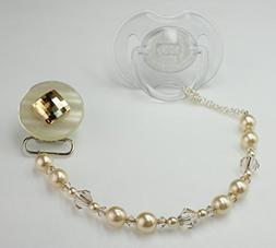 Crystal Dream Elegant Beige Swarovski Pearl and Crystal Spar