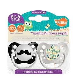 Ulubulu Expression Pacifier Set for Boys, Momma's Boy and Mu