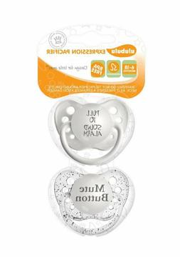 Ulubulu Expression Pacifier Set, Unisex, Pull to Sound Alarm