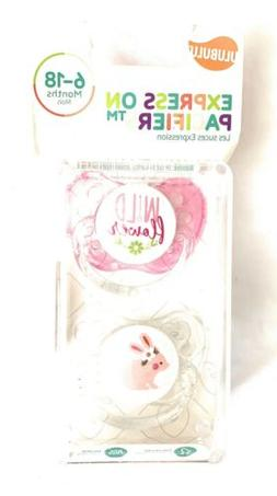 Ulubulu Expression Pacifiers Wild Flower Bunny Baby Girls Pa