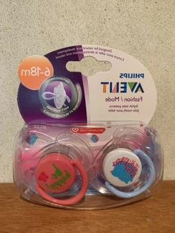 Philips Avent Fashion pacifiers 6-18 months BPA free