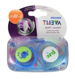 Philips Avent Fashion Soft Silicone Pacifier w/ Cover, 6-18m