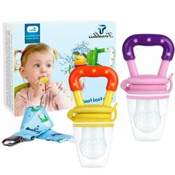 Feeder Teething Toys with Pacifier Clip Strap for Infant, Ki