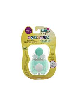 GumDrop The First Years Orthodontic Pacifiers, 0-6 Months, 2