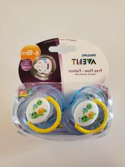 Philips Avent FreeFlow Fashion Baby, Infant Pacifier Binky 2