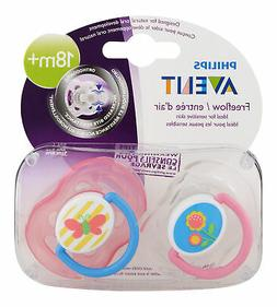 Philips Avent Freeflow Pacifier 18m+ Various Colors 2 Ct. Pa