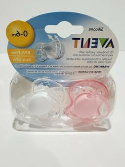Avent Freeflow Pacifier - 0-6 mo - 2 Pk - Girl