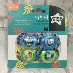 Tommee Tippee Fun Style Orthodontic Pacifier Tiger Hippo Ele